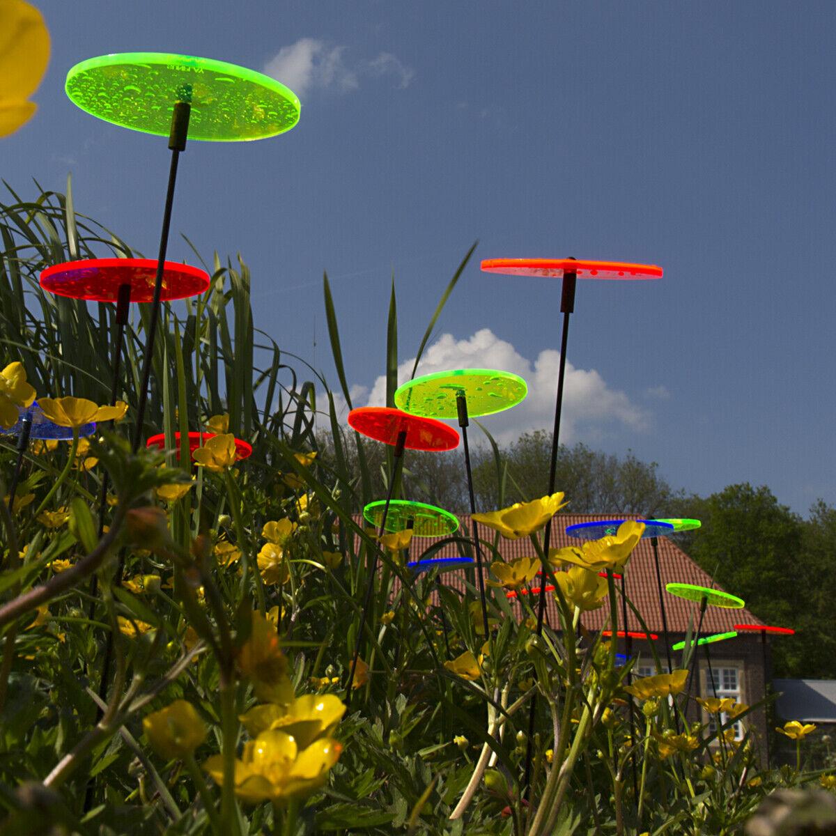 5 Stück SUNPLAY Sonnenfänger Ø10cm Suncatcher Gartenstecker Wolken FARBMIX