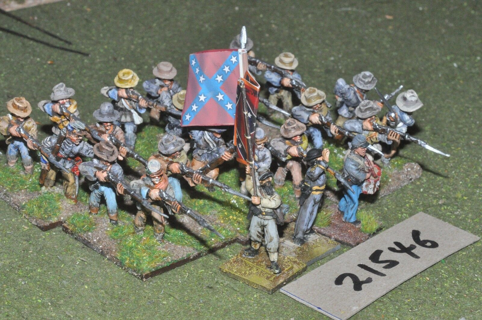 25mm ACW   confederate - american civil war 27 infantry - inf (21546)