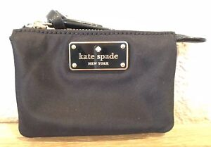 Details about NWT Kate Spade MINI NATASHA Wilson Road Zip Mini Nylon Coin Pouch Wallet Black