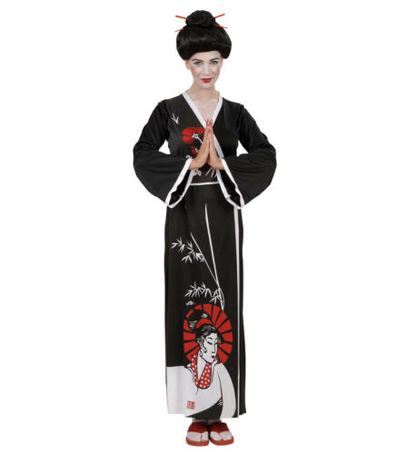 Geisha Giapponese PS 24840 Abito Kimono Costume Carnevale Donna