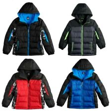 NWT Boy's Puffer Bubble 2-tone Black Navy or Char 2fer Winter Coat Jacket SIZES
