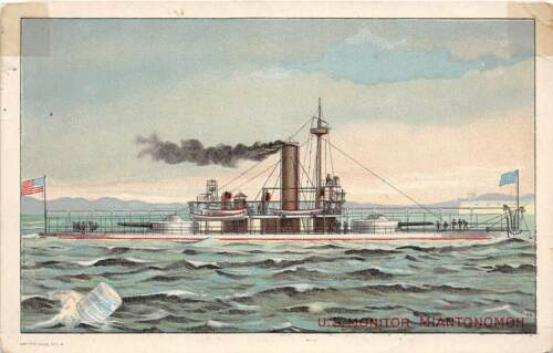PATRIOTIC Trade Card U.S. MONITOR Ship MIANTONOMOH Sm 18