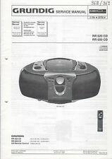 Grundig Service Anleitung Manual RR 620 CD 650 CD  B881