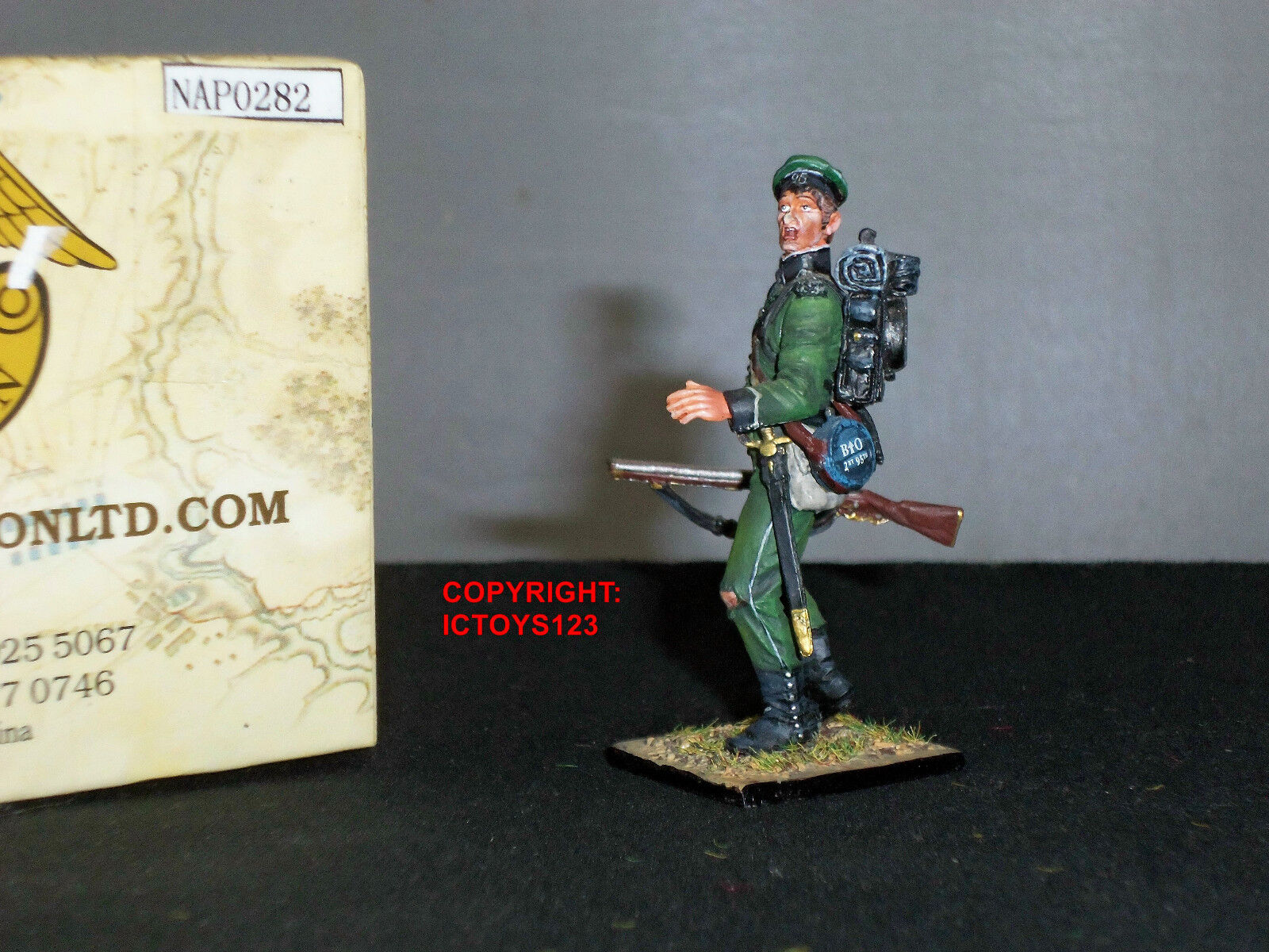 FIRST LEGION NAP0282 BRITISH 95TH RIFLES YOUNG SOLDIER METAL TOY SOLDIER FIGURE