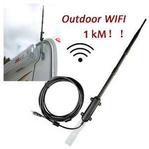 Details about Outdoor USB WiFi Adapter 150Mbps 13dBi High Power WiFi  Antenna Signal Receiver