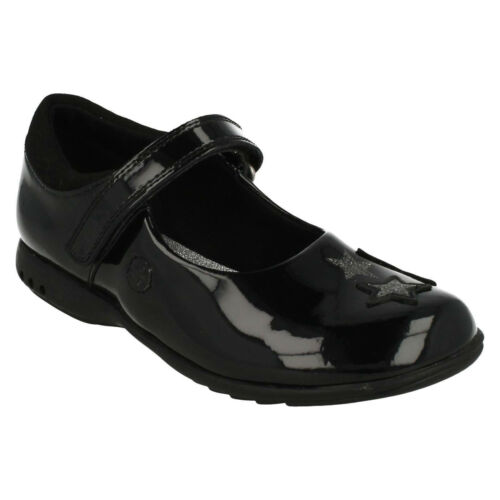 GIRLS CLARKS INFANT LIGHTS PADDED TOPLINE MARY JANE PUMPS SCHOOL SHOES TRIXI BEE