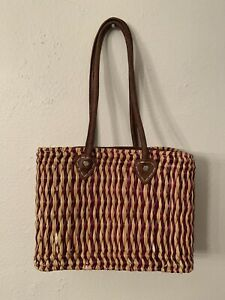 Vintage 70s Woven Tote Bag