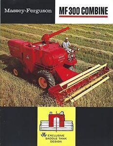 Massey-Ferguson MF 205 300 410 510 Combine Corn Head Color Brochure 12 pg /'67