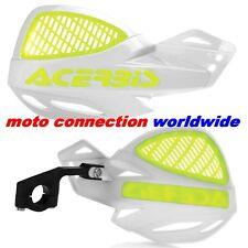 NEW ACERBIS UNIKO VENTED WHITE FLUO YELLOW HANDGUARDS HONDA CR125 CR250
