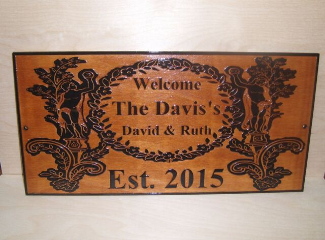 Personalized-Family-Last-Name-Sign-Couple Wedding Gift Laser Engraved ANY TEXT