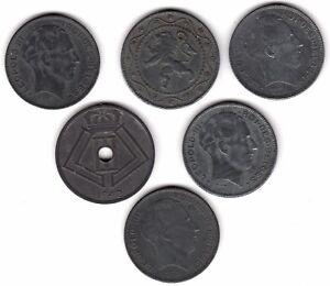 MIX-di-Belgio-FRANCO-MONETE-pochi-centesimi-2-Libbre-B6