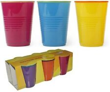 Set of 6 Multi Coloured Glass Cups Juice water tumblers VERY UNIQUE