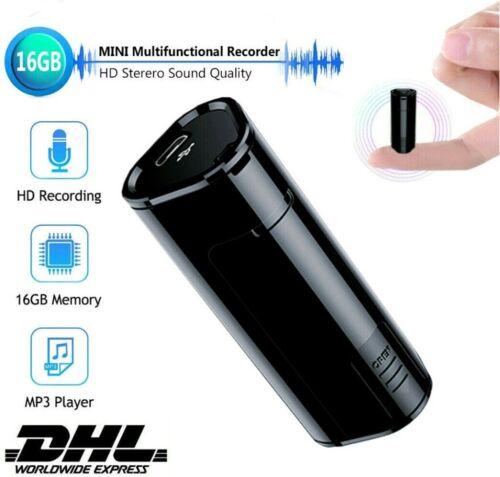 Mini 16GB Diktiergerät Wiederaufladbare Digital Aufnahmegerät Voice Recorder DHL