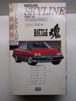 "New Strict Arii 1:24 Scale Nissan Skyline 2000 Rs ""battle"" Model Kit # 81125-1200"