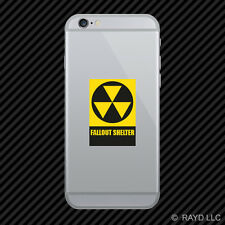 Fallout Shelter Cell Phone Sticker Mobile Die Cut warning nuclear danger