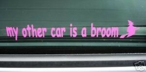 My-Other-Car-is-a-Broom-Funny-Witch-Sticker-for-Peugeot-106-206-306-Mini-Fiat-Ka