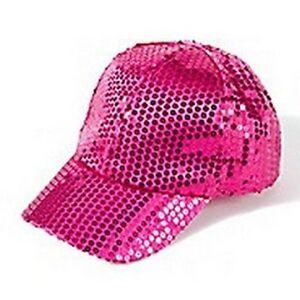 Image is loading PINK-SEQUIN-Girls-HAT-Teens-TWEENS-sPARKLE-Baseball- 1c61d5308a8
