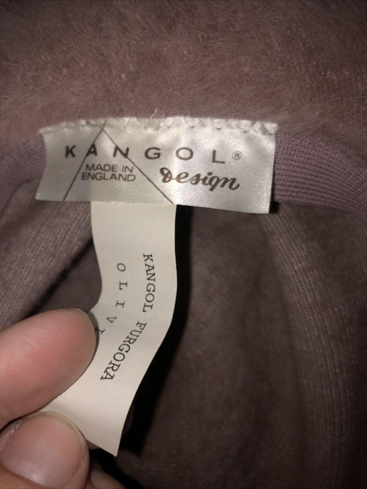 Kangol Dusty Rose Pink Fuzzy Angora Fur Furgora C… - image 2