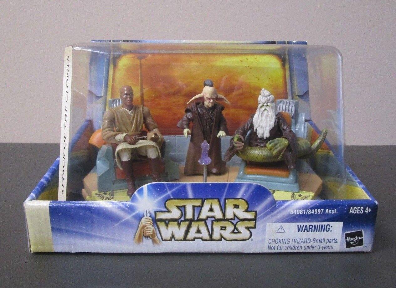 Jedi High Council SCENE 1 2003 STAR WARS battle Pack Even Piell Mace Windu Oppo