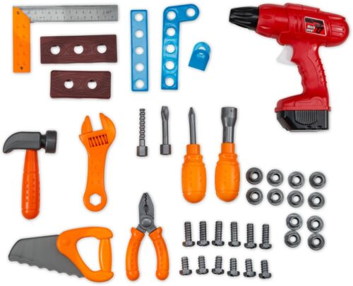 Pretend Play Toy Workshop Tools for Kids Workbench Boys Play Set with Toy Drill