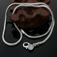 Wholesale New Fashion Sterling Solid Silver 3MM SheGu Necklace ZQN192 For Xmas