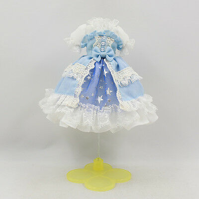 """New 12"""" Neo Blythe doll lace dress blue color fit BJD SD ICY Doll"""