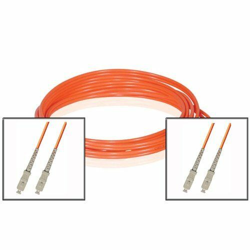 LOT OF THREE 10FT SC to SC Duplex 62.5//125 Multimode Fiber Optic Patch Cable