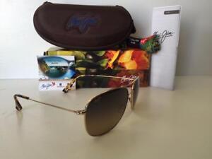 ae5c11f2d0f58 Image is loading Maui-Jim-Cliff-House-Polarized-Titanium-Sunglasses-247-