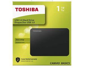 """1TB Toshiba Canvio Basics 6,3cm (2,5"""") USB 3 0 NEU HDTB410EK3AA"""