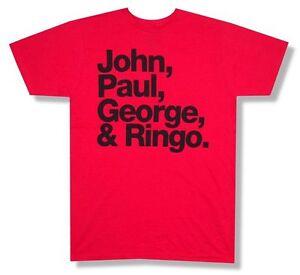 8f1b6c7127 A imagem está carregando Beatles-Primeiros-nomes-jpg-amp-r-Vermelho-Camiseta -