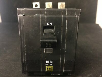 Square D QOB330 Breaker 3 pole 240//120 vac 30 amp W// mounting screws Guaranteed
