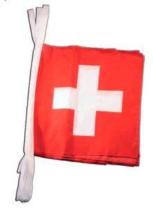 L/änge 5,9 m Flaggenfritze Fahnenkette Schweiz