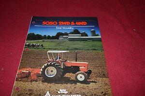 Allis Chalmers 5050 5050 4wd Tractor Dealer's Brochure DCPA2