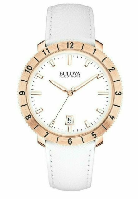 Bulova Accutron II Moonview Rose Gold Sweeing Seconds Hand 42mm Watch 97B128