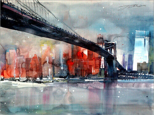 Brooklyn Bridge IV Johann Pickl Acrylglasbild New York