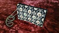 Indian Handcrafted Wedding Purse Party Handbag Reception Clutch Bag Shoulder