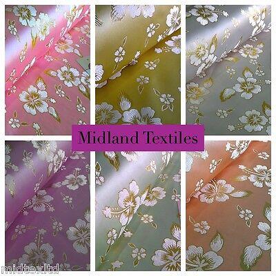 "Cream Floral Vintage Bridal Lace Dress Fabric 45/"" wide MH875 Mtex"