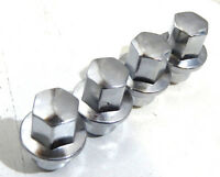 (4) Chrome Lug Nuts 2010 Ford Fusion / 12x1.5 3/4 Hex W/ Flange For Hubcaps