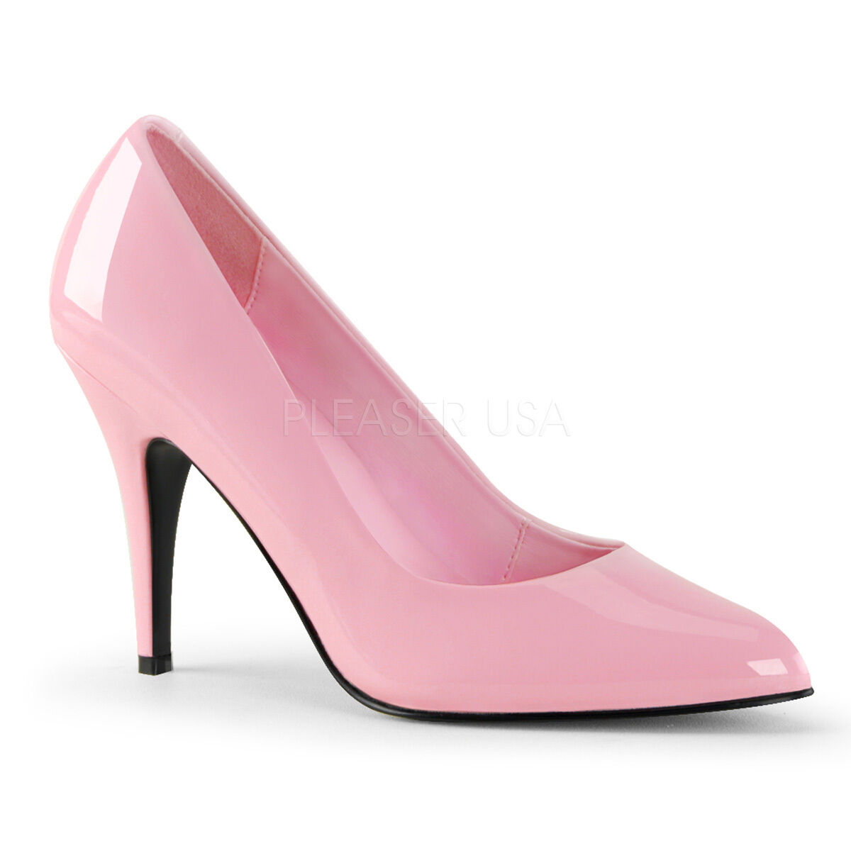PLEBSER VBNITY-420 BBBY PINK PBTENT STILETTO HEEL COURT SHOES