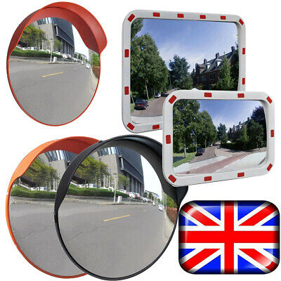 Wide Angle Traffic Mirror with Mounting Hardware Accessories Round Driveway Road Safety Mirror Tool for Home Indoor Warehouse Factory 45CM