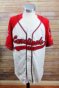 13470f72 Details about Vintage Starter St. Louis Cardinals Throwback Script Baseball  Jersey MLB Large