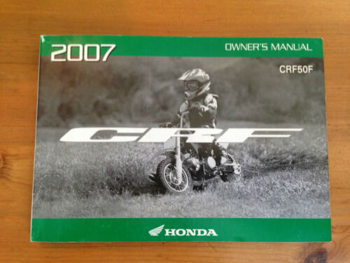 New Factory Owner/'s Manual 2007 HONDA CRF50F 31GEL670 00X31-GEL-6701 Owner