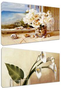 Fiori Quadri Moderni.Quadri Moderni Fiori In Vaso Arredamento Casa Cm 120x60 Stampa