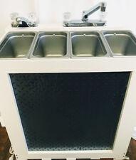 Portable Concession Sink 3 1 Compartment Sink Electric Black Diamond Plate