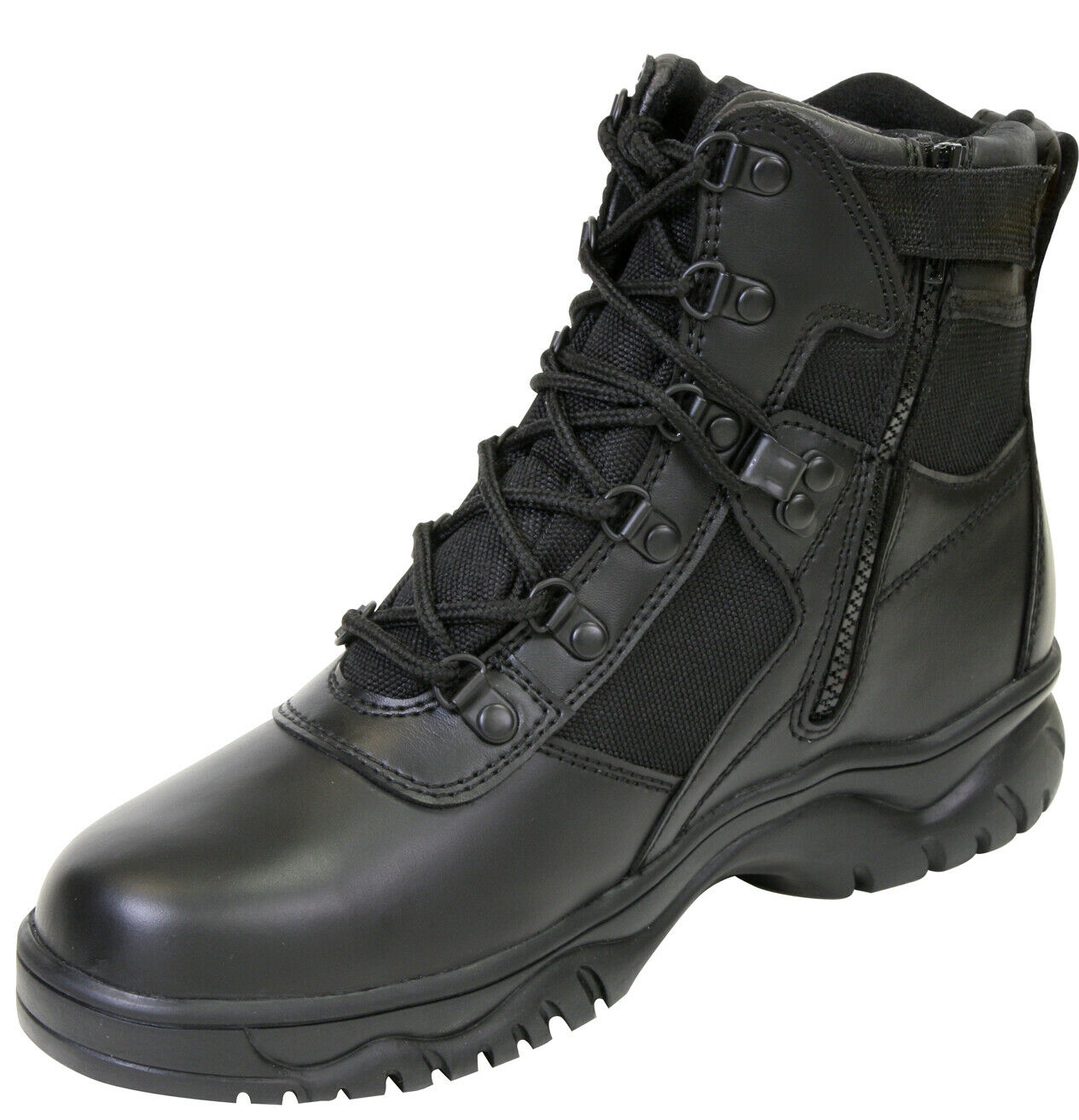 Military style blood pathogen tactical boots side zipper waterproof redhco 5190