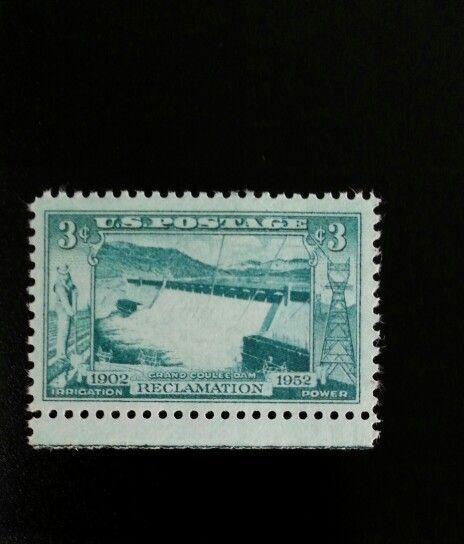 1952 3c Grand Coulee Dam Columbia River 50th Anniversar
