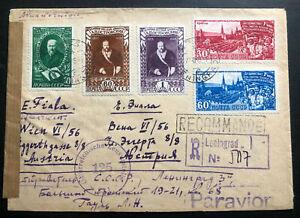 1948-Moscou-La-Russie-URSS-inscrit-censure-couverture-a-Berne-Suisse-Sc-1227-9