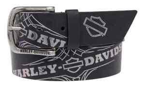 Harley-Davidso<wbr/>n Women's Mirage Foil Printed Belt, Genuine Leather HDWBT11024-BLK