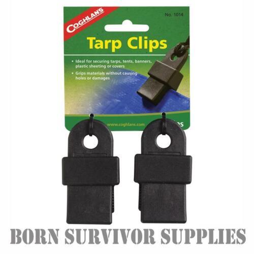 Coghlan/'s Tarp Clips-Shelter Sheet Basha Auvent Bâche Bannière Support De Tente