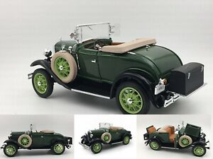 Ford-Model-A-Roadster-1931-Green-Diecast-1-18-Sunstar-New-Boxed
